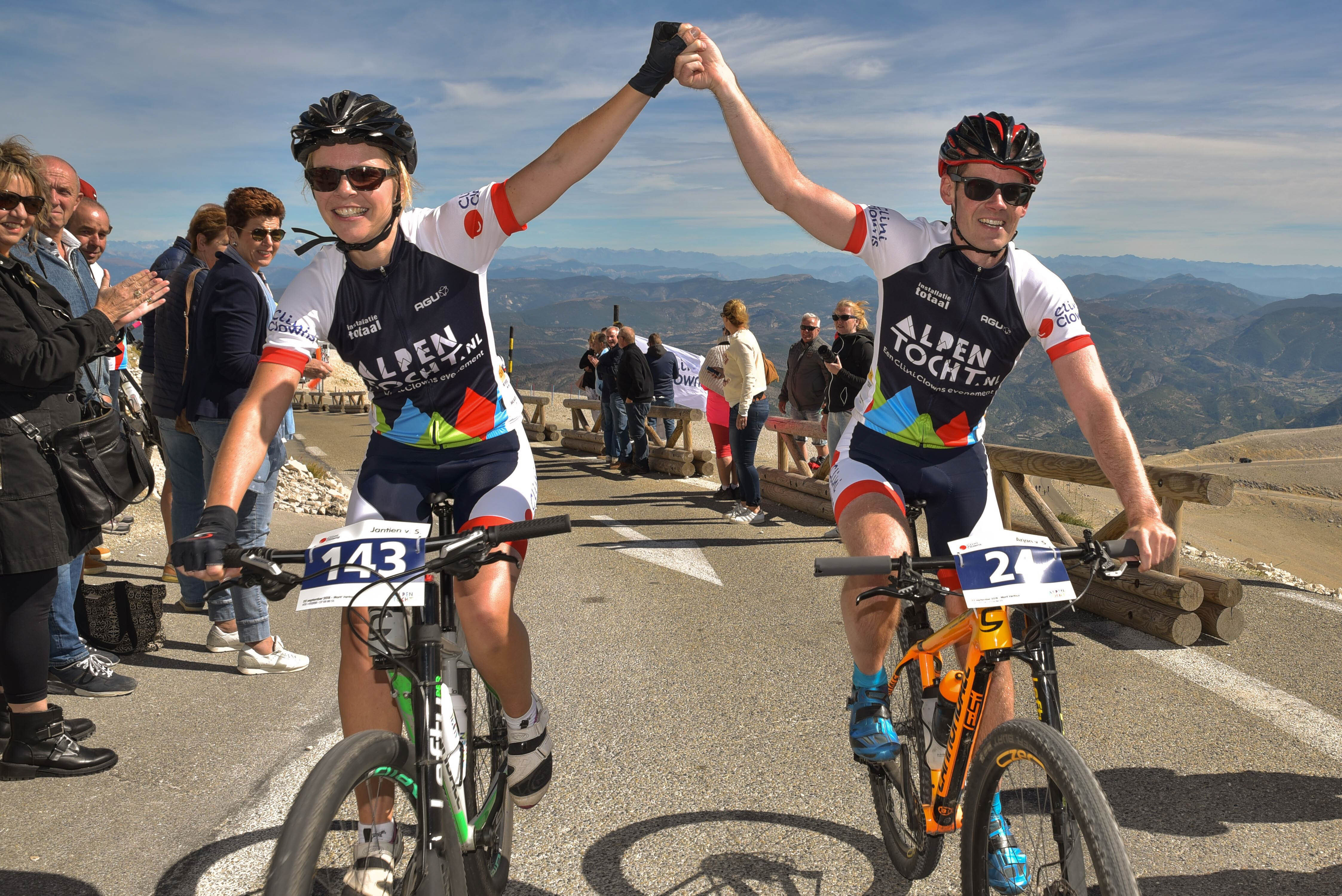 Arjan en Jantien op de Mont Ventoux